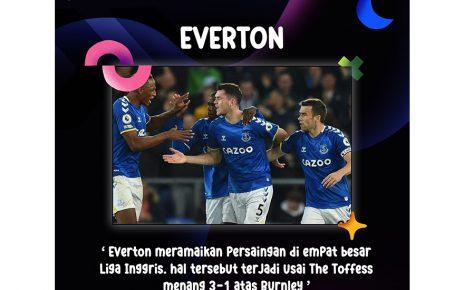 Everton Ramaikan Persaingan 4 Besar